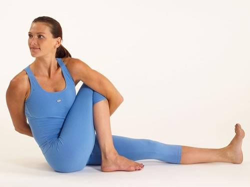 Marichiasana II - poses of Hatha Yoga