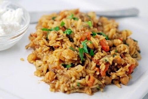 Плов рисовый с нутом