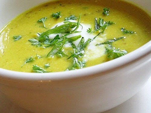Вегетарианский суп их нута с чили