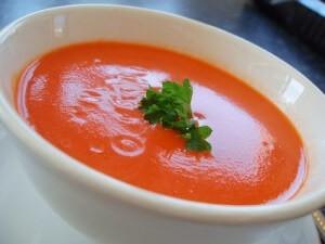 Томатный суп-пюре с картофелем