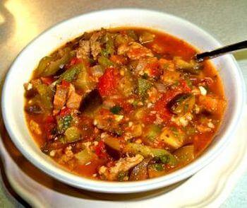 суп вегетарианский с баклажанами