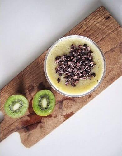 какао банан сливки смузи
