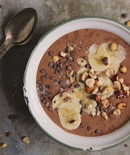 смузи с какао и бананом