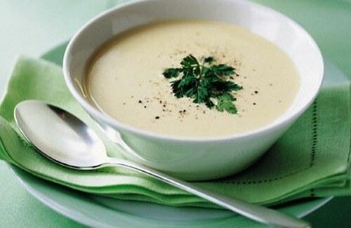 Сырный густой суп