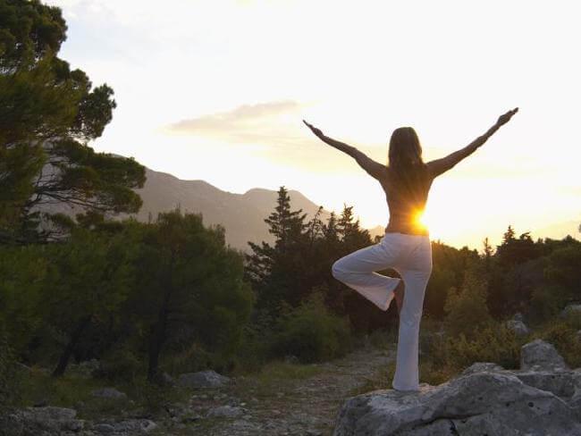 йога в парке