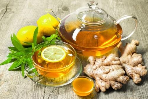 напиток имбирь зеленый чай