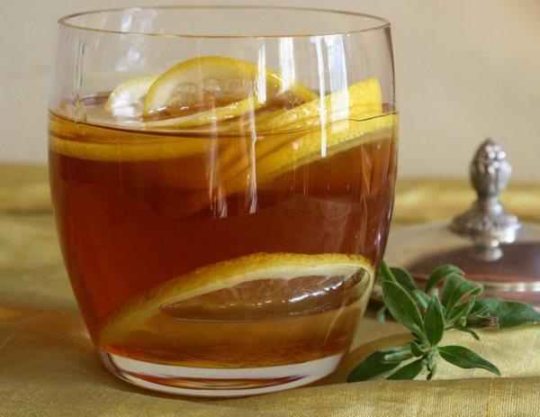 Антипростудный чай лимон мед имьирь